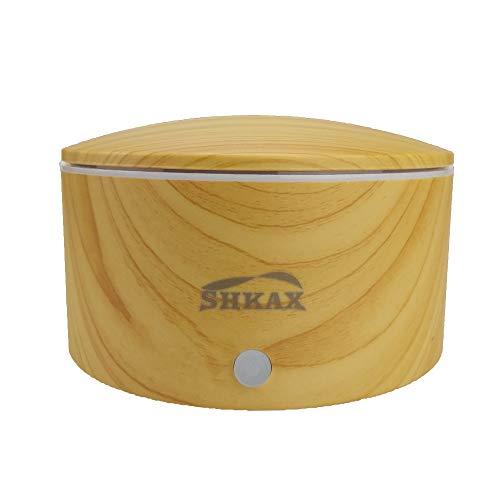 shkax Difusor de Aceites Esenciales 350ml Ultrasónicos Electrico Silencioso Humidificador con 7 Colores LED 1-Ajuste de Tiempo Fijo, Auto-Apaga, Mejorara el Aire Seco para Yoga Oficina