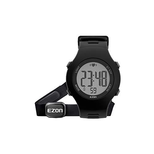 FENGJJ Reloj Monitor de Ritmo cardíaco Sport, a Prueba de Agua, cronómetro, carillón Cada Hora, Control de Las pulsaciones de Las Mujeres Embarazadas para los Ancianos.