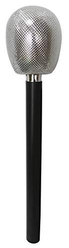 amscan 840323-55 80er Glitzer Mikrofon schwarz Standard