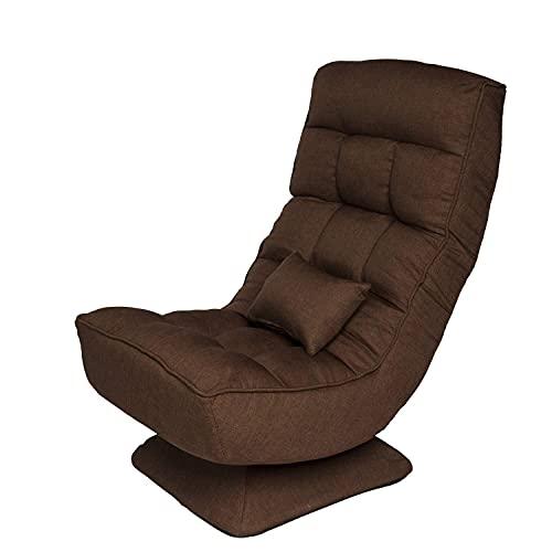 Gtracing Chair Gaming, silla giratoria de 360 grados para juegos, sofá perezoso, sillón de piso plegable ajustable de 4 etapas con cojín de masaje eléctrico, adecuado para dormitorio, sala de estar