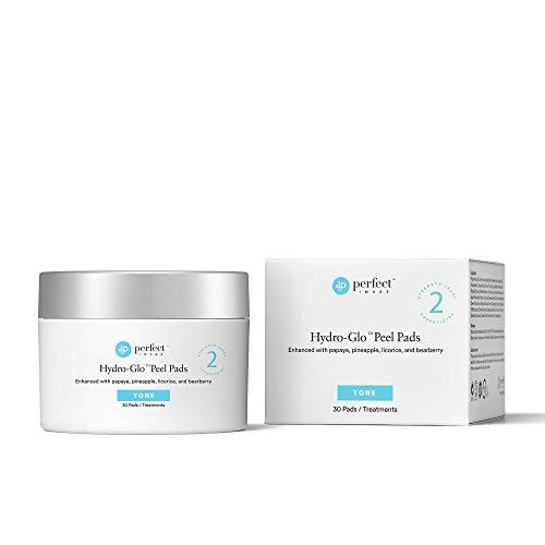 HYDRO-GLO Skin Brightening Peel Pads - Enhanced with Lactic | Mandelic | Glutathione | Kojic Acid | Papaya | Pineapple | Licorice | Bearberry