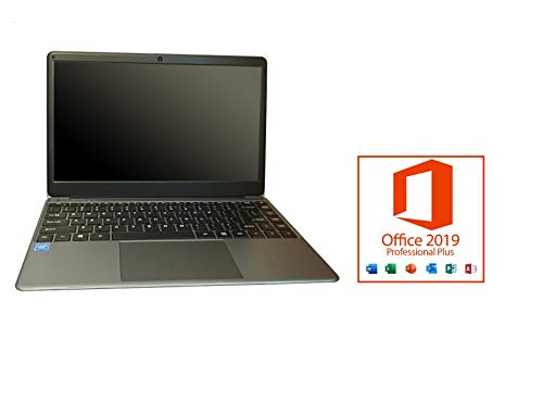 HTC Pro Laptop 14.1 inch, Intel N4000 Quad-Core 1.1GHz, Windows 10 Home, 8GB RAM 1TB SSD, 2.4GHZ WiFi, Microsoft Office 2019 Professional Plus