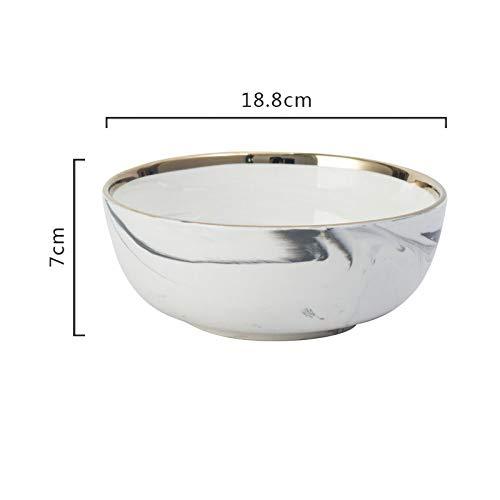 Porzellanschale Marmorierung Vergoldete Stroke Bowl Reisschüssel Suppenschüssel Gemüseschale Dessertschale Reisschale Obstsalatschale