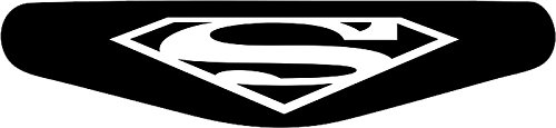 Decus-Shop Play Station PS4 Lightbar Sticker Aufkleber Superman (schwarz)