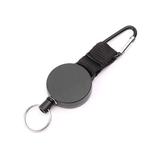 Yanhonin Rétractable Robuste Porte-clés, Rétractable Badges Reel Clip avec 60cm en Acier Câble