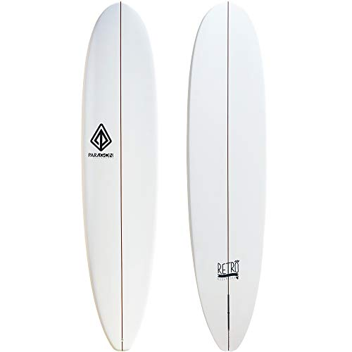 Paragon Surfboards Retro Noserider Longboard | High-Performance & Fun Single Fin Long Board Surfboard for All Wave Conditions | 8'0 | 9'0