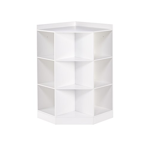 RiverRidge 02-144 6-Cubby 3-Shelf Kids Corner Cabinet White