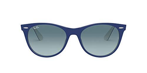 Ray-Ban Unisex Wayfarer Ii Lesebrille, Blau auf Weiß/Blau Farbverlauf Grau, 52 Mm