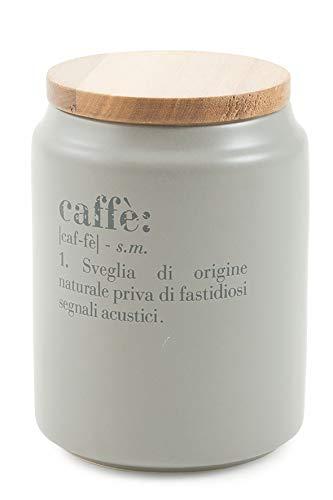 Villa d'Este Home Tivoli Victionary Barattolo caffè c/Coperchio, Grigio, Ø 10,5 x h. 15 cm