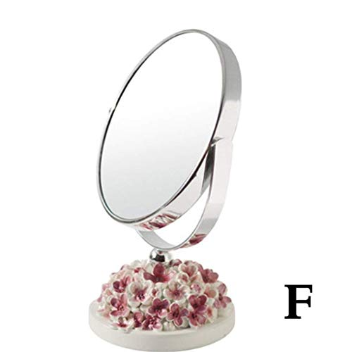 Rétroviseur intérieur compact Salle de bains Miroirs 3X maquillage Vanity Miroir grossissant 5 pouces Miroirs 360 Dregree Exempté, double face Miroir for le rasage de maquillage, Miroir Maquillage r