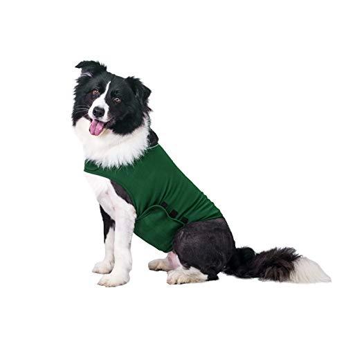 TT.WALK Jakcet Beruhigungsweste für Hunde, weich, für Angstzustände, bequemes Donner-Shirt für Hunde (dunkelgrün, L)