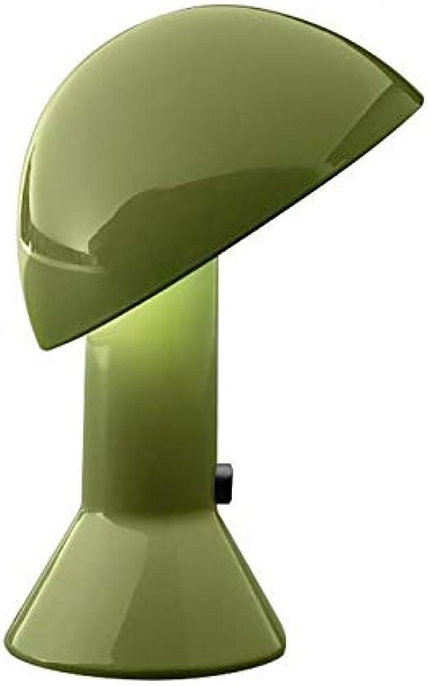 Martinelli luce elmetto, lampada da tavolo,in alluminio e resina 685/VE