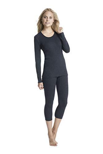 Con-ta thermobroek in 3/4-lengte voor dames van natuurlijk katoen en vormgevend polyester, warmte-isolerend functioneel ondergoed, in verschillende Kleuren, maten: 36-50.