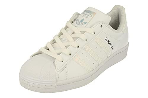 Adidas Originals Superstar Junior Trainers Sneakers (UK 4.5 US 5 EU 37 1/3, White White Black FX3566)
