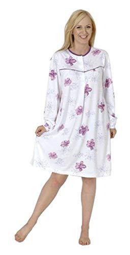 Normann Care Damen Pflegenachthemd Langarm, Rückenteil offen 999 270 90 001, Farbe:Mix, Größe2:44/46