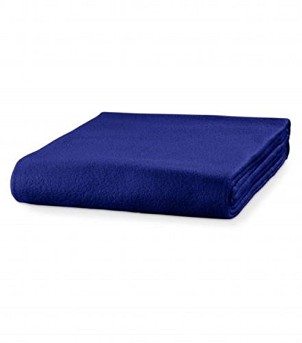 Malfini Fleecedecke Kuscheldecke Tagesdecke viele Farben Decke mit Anti-Pilling (königsblau)