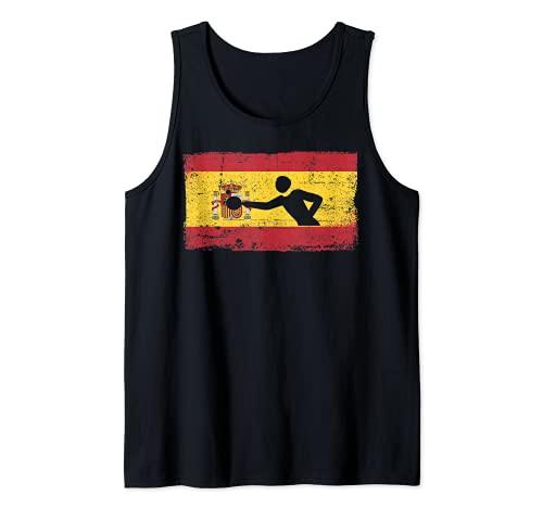 Bandera España Patriótica España Ping Pong Tenis Mesa Camiseta sin Mangas