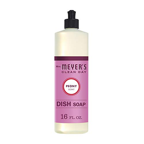 Mrs. Meyer's Clean Day Dish Soap, Peony, 16 oz (Pack of 1)
