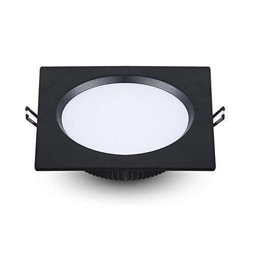 Luz de techo negro Panel rejilla cuadrado luz LED alta antideslumbrante techo Downlight ahuecado Europea Aluminio Luz empotrada Embedded integrado iluminación Tienda ropa comercial Oficina Reflector