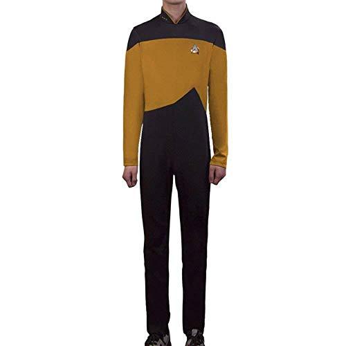 XPF Uniforme De Capitán De La Próxima Generación De Star Trek,Yellow-S
