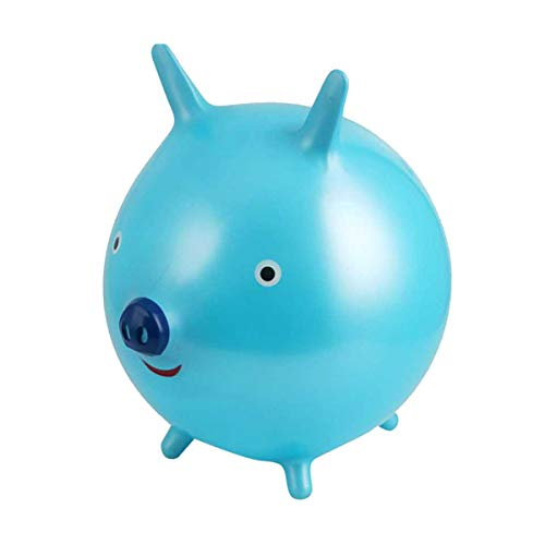 Toyvian Hüpfball Sprungball Hopperball Springball Hopper Ball Schwein Hopping Ball für Kinder (Hellblau)