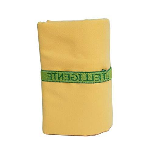 IAMZHL Toallas de Microfibra de Playa con Vendaje Secado rápido Viajes Deportes Nadar Gimnasio Yoga Baño Adultos Manta2020-yellow3-80cm 160cm