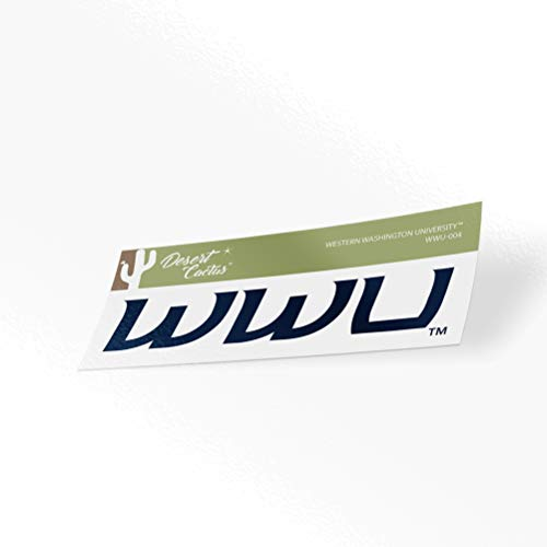 Western Washington University WWU Vikings NCAA Vinyl Decal Laptop Water Bottle Car Scrapbook (Sticker - 004)