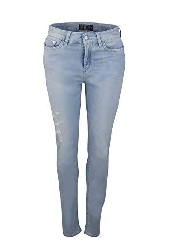Drykorn Skinny Fit Jeans Pull Destroy used siernaden lichtblauw