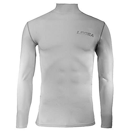 Legea Body 6 Dynamic-Maglia intima a maniche lunghe uomo, collo alto, Bianco, Taglia del produttore: M