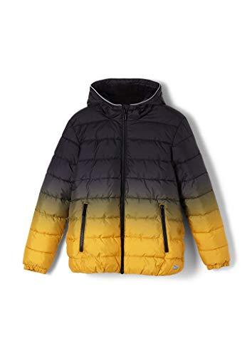 s.Oliver Jungen Winter-Steppjacke mit Fleece-Futter black/yellow gradient S