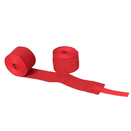 Anyutai 2Pcs Boxen Handwickel mit Daumenschlaufe Bandagen Boxhandschuhe Boxhand zum Boxen MMA Kickbox Box Box Bandage Sport 1,5m Rot
