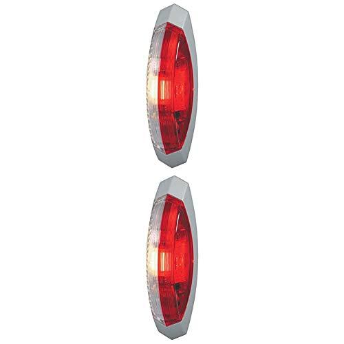 HELLA 2XS 008 479-071 Umrissleuchte, Anbau rechts, 12/24 V, C5W, rot/glasklar + Umrissleuchte, Anbau links, 12/24 V, C5W, rot/glasklar