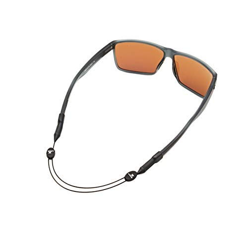 Luxe Performance Cable Strap - Premium Adjustable No Tail Sunglass Strap and Eyewear Retainer for Your Sunglasses, Eyeglasses, or Prescription Glasses (Luxe Black 14)