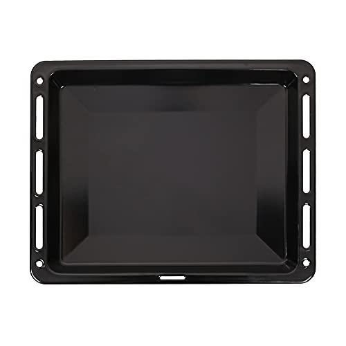 ICQN Bandeja de horno 460x375x30 mm de profundidad | Bandeja colectora esmaltada para horno y estufa | Adecuado para Bosch Siemens Neff Constructa | Resistente a rayones e inoxidable | 46 x 37,5 cm