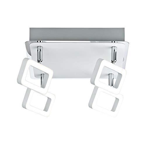 Paulmann 66641 Spotlight Frame 4x4,5W Weiߟ matt/Chrom 230V Metall 666.41 Deckenleuchte Lampe LED Deckenlampe Deckenstrahler