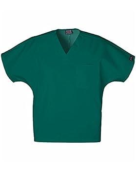 Cherokee Workwear Scrubs Unisex V-neck Tunic Top Hunter Large