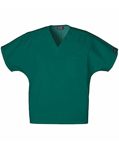 Cherokee Workwear Scrubs Unisex V-neck Tunic Top, Hunter, Large