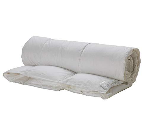 Lancashire Textiles - Lussuoso piumino leggero con piume d'oca, estivo, primaverile, 250 fili, 100% cotone, 4,5 tog.