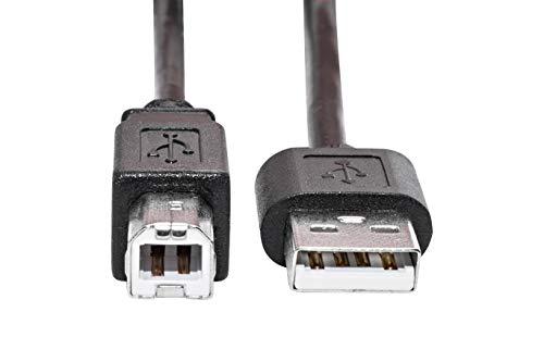 KnnX 28093 | USB 2.0-Kabel | Länge: 3,00M | Typ A-Stecker an B-Stecker | zur Verwendung mit einem Drucker, Flachbettscanner, externes Festplattenlaufwerk, USV-Gerätekabel