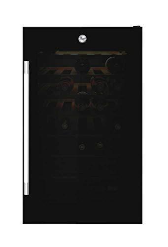 Hoover HWC 154 DELW Cantinetta Vino Doppia Temperatura, 36 bottiglie, Connettività Wi-Fi, Luci a LED e Trattamento anti UV, Ripiani in Legno, 39 dBa, Libera Installazione, 49x54.5x84.5 cm, Nero