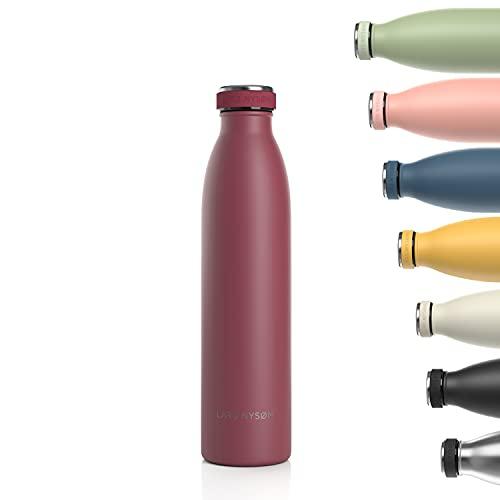 Lars NYSØM Borraccia Termica da 750ml in Acciaio Inox   Bottiglia isolata Senza BPA   Bottiglia d'Acqua a Tenuta stagna per Sport, Bicicletta, Cane, Bambino Bambini