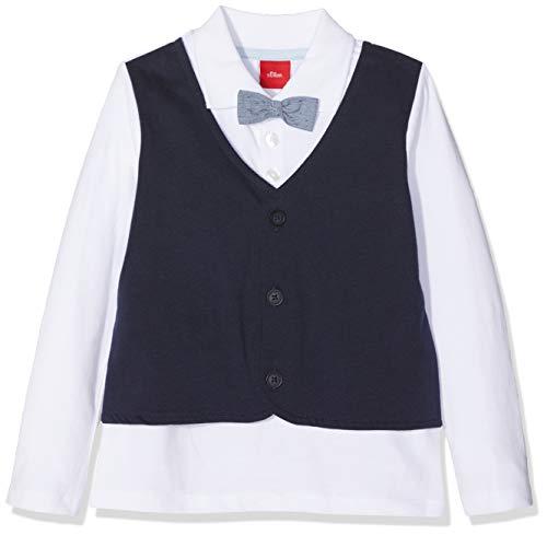 s.Oliver s.Oliver Baby-Jungen 59.811.35.5927 Poloshirt, Weiß (White 0100), 68