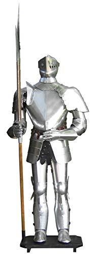 TSGPS GmbH - Armatura autentica per cavaliere con spada e pedana, 193 cm