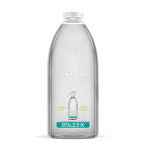 Method Daily Shower Spray Cleaner Refill, Eucalyptus Mint, 68 Ounce, 6 pack, Packaging May Vary