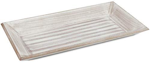 com-four® Deko-Tablett aus Holz im Vintage-Design (01 Stück - rechteckig Tablet)