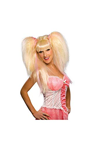Horror-Shop Heiße Feen Perücke blond/pink