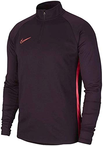 NIKE Dry-Fit Academy Sudadera, Hombre, Burgundy Ash/Racer Pink/Racer Pink, XL