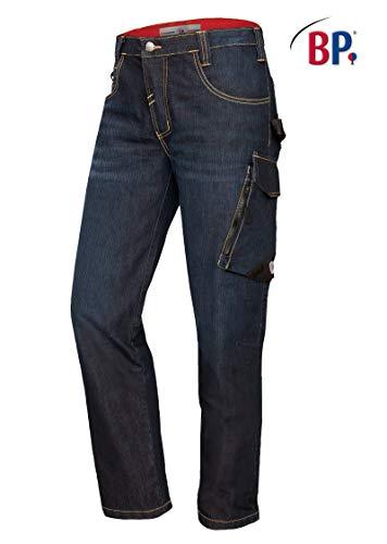 BP 1990-038-01-38/30 Arbeiter-Jeans, Schlanke Silhouette, 350,00 g/m² Baumwolle mit Stretch, dunkelblau verwaschen ,38/30
