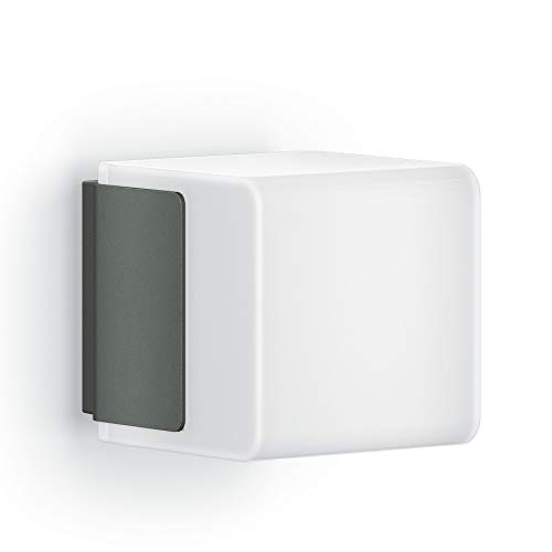 Steinel Außenwandleuchte L 835 LED iHF anthrazit, LED Wandlampe, 160° Bewegungsmelder, vernetzbar, per App bedienbar
