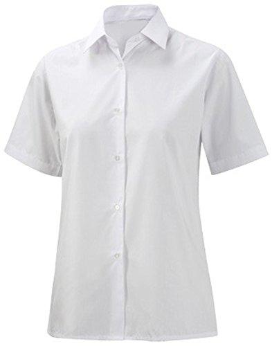 School Uniform Ladies Short Sleeve Blouse White 40